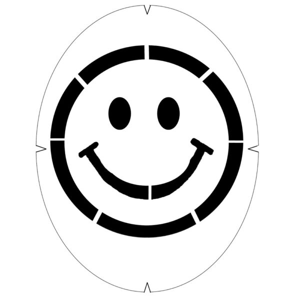Tourna Fun Stencils Smiley Face